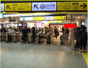 JR線恵比寿駅西口改札